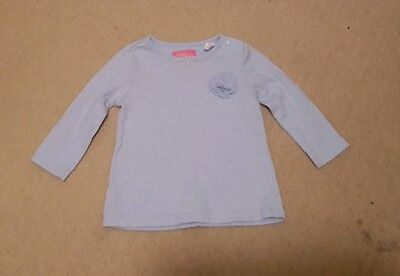 Joules pale blue long sleeved top age 3-6 months