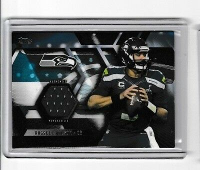 2015 Topps Russell Wilson Topps Relic Card #TR-RW