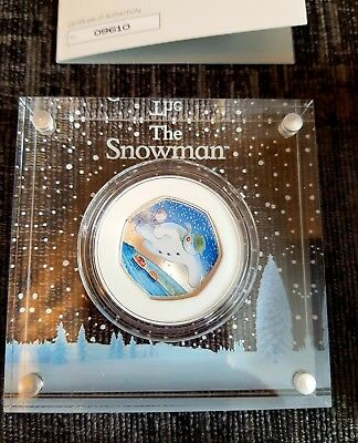 The Snowman 2018 Silver 50p Proof Coin. Only 15,000 minted!