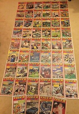 52 x 1981 TIGER & SPEED COMICS - Complete Year - VGC