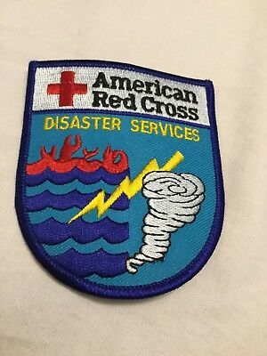 Red Cross Disaster Services patches set of two