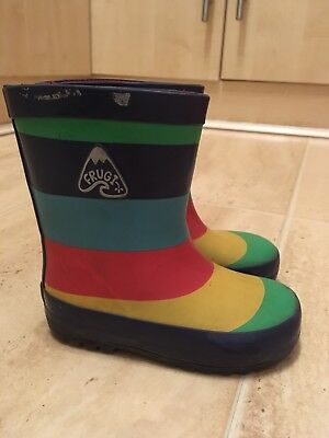 Frugi Rainbow Wellies Size Infant 6