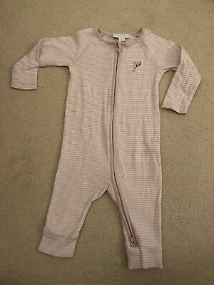 White Company Zip Up Sleepsuit 6-9 Months