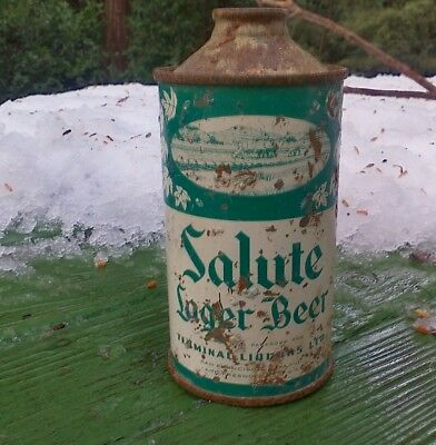 Salute cone top  cone beer can