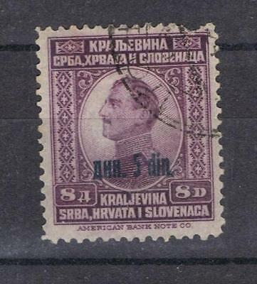 Yugoslavia 1924 King Alexander Surcharge 5d on 8d SG 196 Used