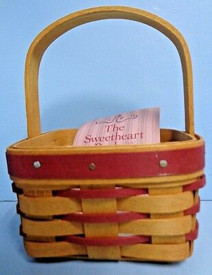 Longaberger .1993 . 11347 . Sweetheart Basket