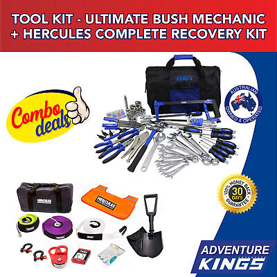 Adventure Kings Tool Kit - Ultimate Bush Mechanic + Hercules Complete Recovery K