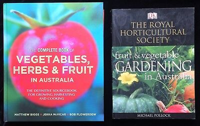 Complete Book of Vegetables Herbs & Fruits in Australia + Royal Horticultural