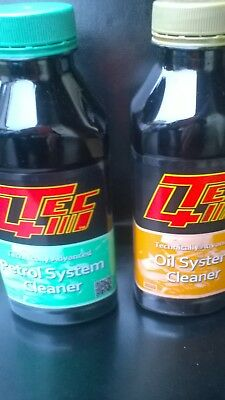 Petrol System And Oil System Cleaner Tec4 Twin Pack 400Ml Bottles.quantity Deals