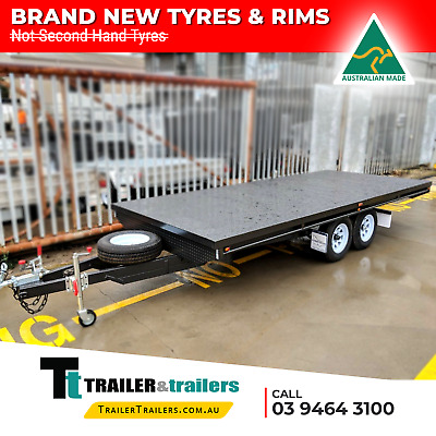 8X6 Tandem Axle Heavy Duty Flat Top/Flatbed/Table Top Trailer | New Wheels