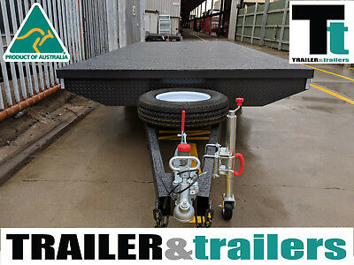 10X6 Tandem Axle Heavy Duty Flat Top/Flatbed/Table Top Trailer + Spare + Jockey