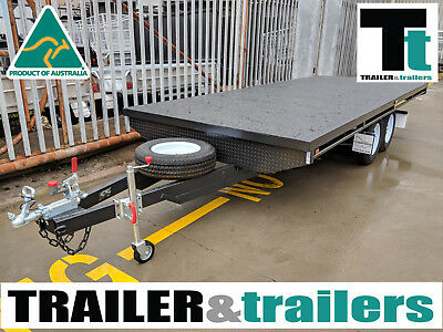 14X8 Tandem Axle Heavy Duty Flat Top/Flatbed/Table Top Trailer | New Wheels