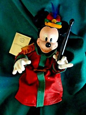 Vintage Disney Mickey Bandleader  Fabriche Excellent Tag 1980-90 mint Free Ship