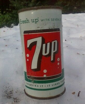 7up 10 oz flat top soda can