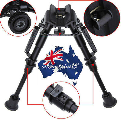 "Adjustable Legs 6"" to 9"" Height Sniper Hunting Rifle Bipod Sling Swivel Mount AU"
