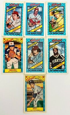 1980 Kelloggs Baseball 3 D Super Stars Lot Of 12 Bowa