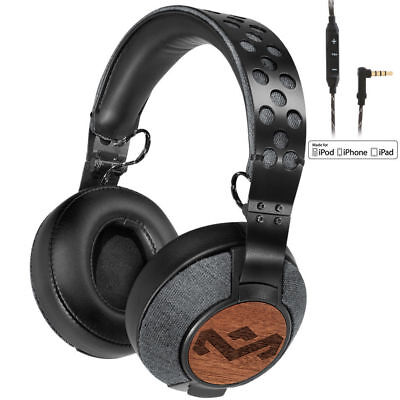 House of Marley Liberate XL Headphones/Headset/Buttons/Mic for iPhone/Apple/iPad