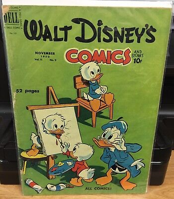 Walt Disney's Comics and Stories #122 G Dell Donald Duck Nov 1950