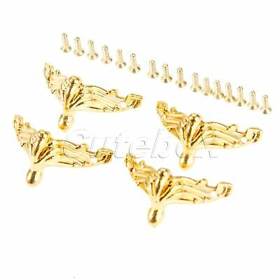 Zinc Alloy Jewelry Chest Wood Box Feet Leg Corner Protector Guard Decorative