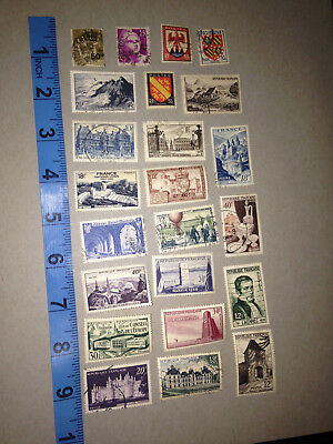 23 Piece Set Collection Of 1930S 1940S Postage Staps France French