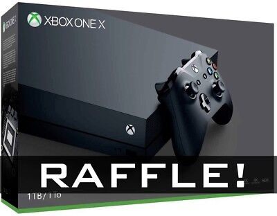 GIVEAWAY! Microsoft Xbox One X 1TB Black Console NEW UNOPENED BOX!