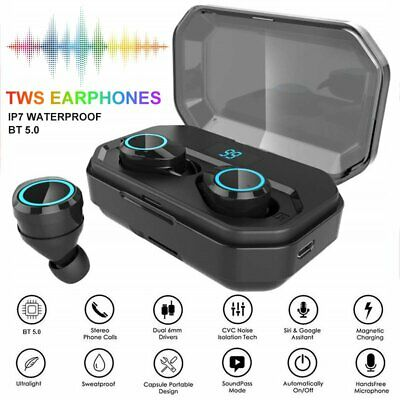 TWS Wireless Headsets Bluetooth V5.0 Earbuds HiFi Stereo Bass Headphone Earphone