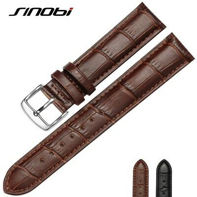 Mens Womens Genuine Leather Wrist Watches Band For Luxury Brand Waterproof Strap