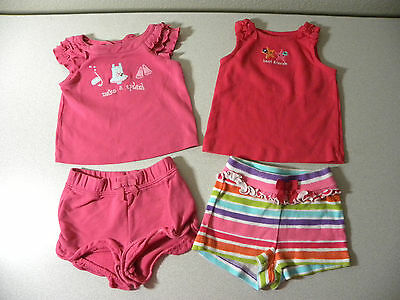 gymboree 4pc.baby girl mix & match clothes lot 3-6 months-item#457