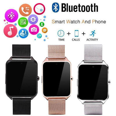 Bluetooth Smart Watch GSM SIM Phone Mate Z60 Stainless Steel For IOS Android SPD