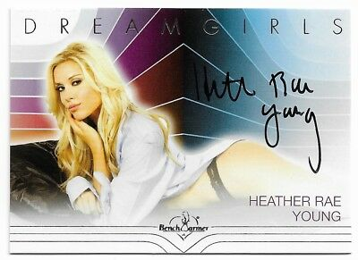 2018 Benchwarmer Dreamgirls Update Heather Rae Young Silver Autograph Auto Card