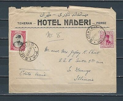 Middle East Persia 1933 Hotel NADERI cover hotel stationary content - 1st hotel?