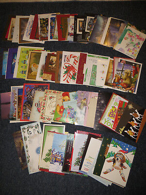 Lot of 125 Used Assorted Greeting Cards Christmas Dog Animal Vintage Sympathy #1