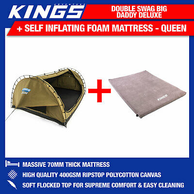 Adventure Kings Double Swag Big Daddy Deluxe + Adventure Kings Self Inflating Fo