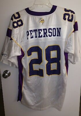 ... ireland reebok on field nfl jersey minnesota vikings 28 adrian peterson  sz large 19a03 bb06c e6d5f2aab