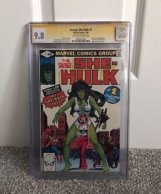 The Savage She Hulk #1 CGC Graded 9.8 SS SIGNED Stan Lee Marvel Grail