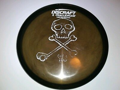 Gently Used Discraft LE Challenger Golf Is Dead Stamp Disc Golf Swirly Halloween