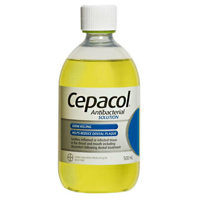 Cepacol Antibacterial Solution 500Ml Germ Killing Helps Reduce Dentalplaque