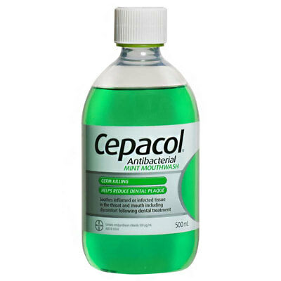 Cepacol Antibacterial Mint Mouthwash 500Ml Germ Killing Helps Reduce Plaque