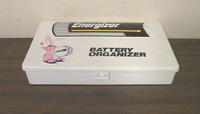 Vtg ENERGIZER Battery Organizer Storage Box Container (80s) BUNNY LOGO! AWESOME!