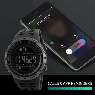 SKMEI Fashion Mens Smart Watches Bluetooth Digital Sports Wrist Watch TS