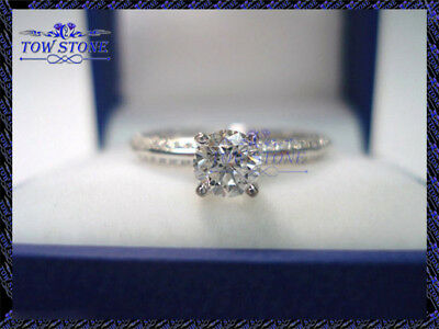 1.50Ct Round-Cut Forever Moissanite Solitaire Engagement Ring 14K White Gold