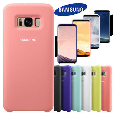 GENUINE Case For SAMSUNG GALAXY S8 S9 Plus Note 8 9 Soft-Silky Silicone Cover UK