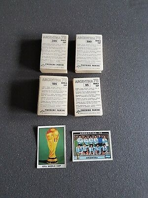 PANINI WC Argentina 78  /  WM 1978 ** Around 350 stickers with original back  **