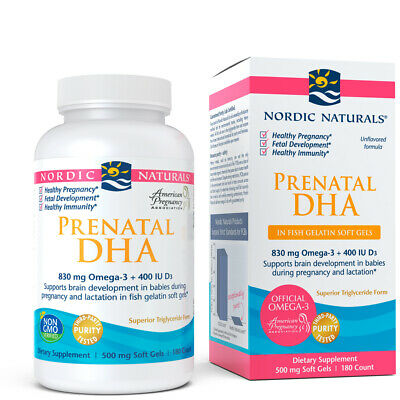 Nordic Naturals DHA Fish Gelatin - Prenatal Supplement for Expecting Mom & Baby