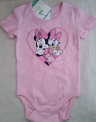DISNEY MINNIE MOUSE Baby Girl Licensed romper bodysuit pink NEW sizes 0000-1