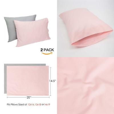 TILLYOU Cotton Collection Soft Toddler Pillowcases Set Fits Pillow Envelope