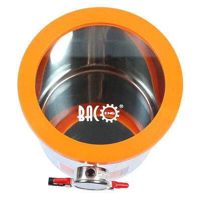 BACOENG 11.4L Glass Lid Stainless Steel Vacuum Chamber for Wood Stabilizing