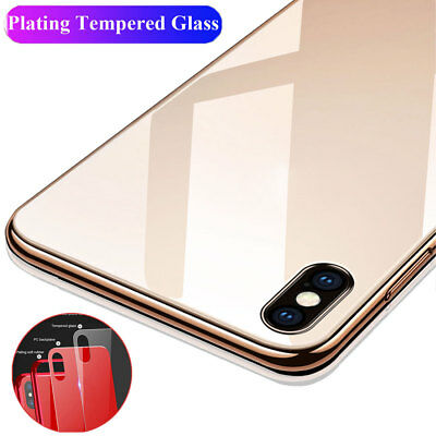 Slim Shockproof Tempered Glass TPU Hybrid Case Cover for iPhone XS Max/XR X 7 8+
