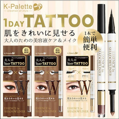 K-PALETTE Japan 1 DAY Tattoo Essene In Liquid Eyeliner Shadow Combination F427