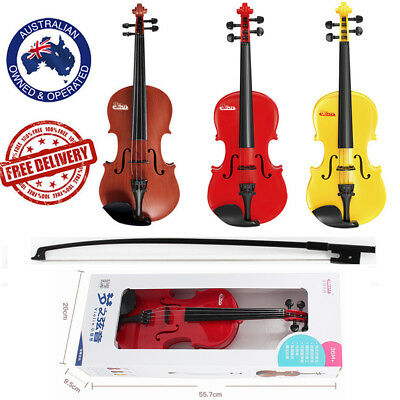 3-6 years old Violin 1/4 size Acoustic Plastic Beginner Children Bow Rosin Toy